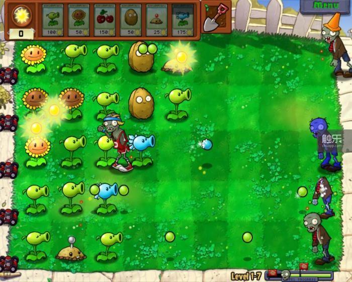 塔防游戏《植物大战僵尸》曾风靡一时