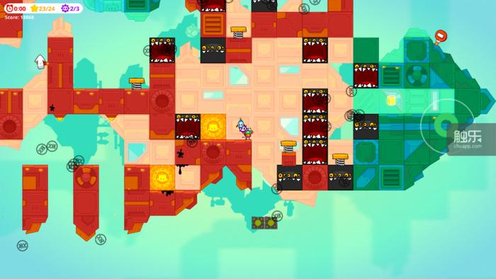 拉远视距的游戏画面,左上角是玩家本关成就的完成情况