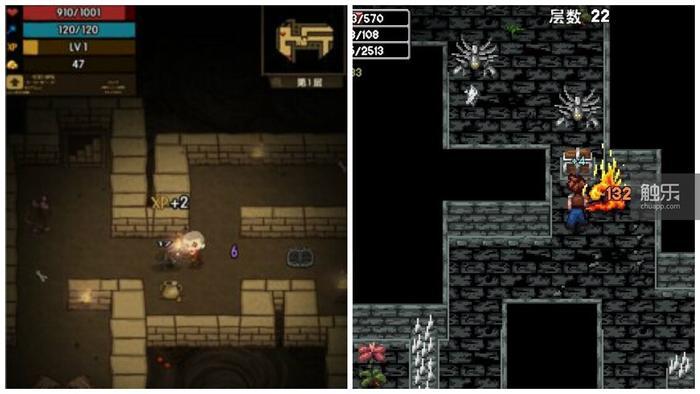 《贪婪洞窟》和《魔法洞窟2》截图