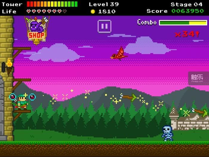 每个关卡都有独特的背景图和Boss,这对于一部像素游戏而言尤其难得