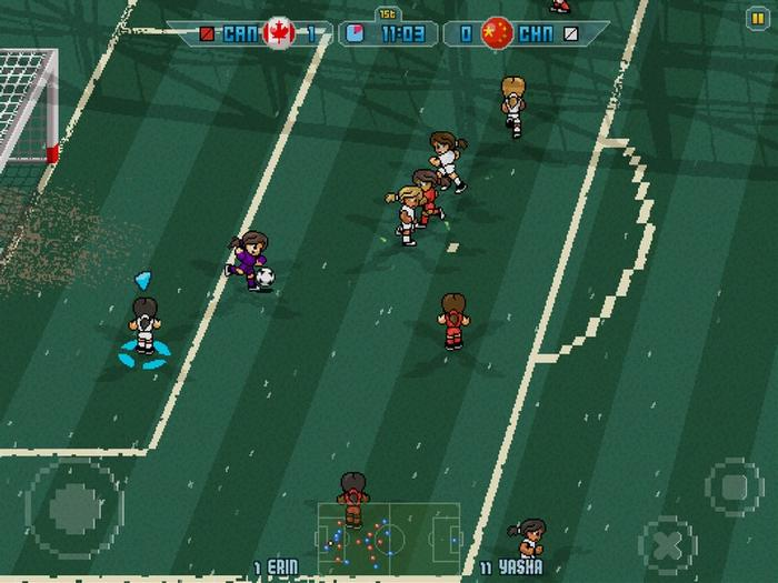 游戏的细节做得还算合理,比如中国女足的肤色和发色,尤其是爆表的能力都体现了出来