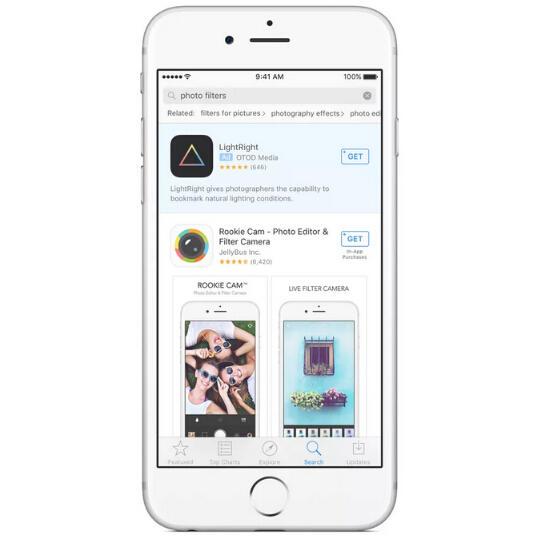 出现在App Store搜索结果中的广告,将有明确的广告标识