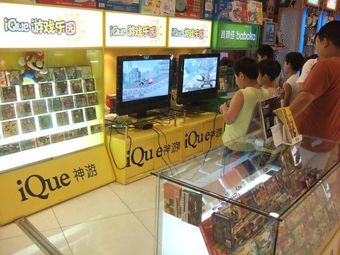 神游的商场专柜,摆放于商场的玩具区或文体用品区