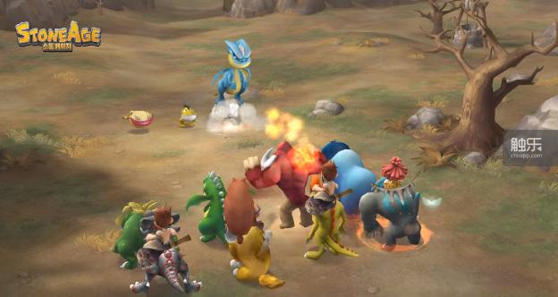 《石器时代》游戏战斗画面