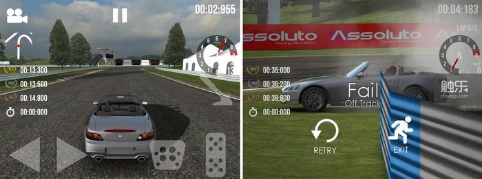 游戏的画面做得比较讨巧,观众、广告牌等细节能省就省,尽量用高分辨率贴图和自然光照营造写实感;怎么撞都没有车损,想起来当年山内一典老爷对GT4没有车损的无厘头解释了吗?