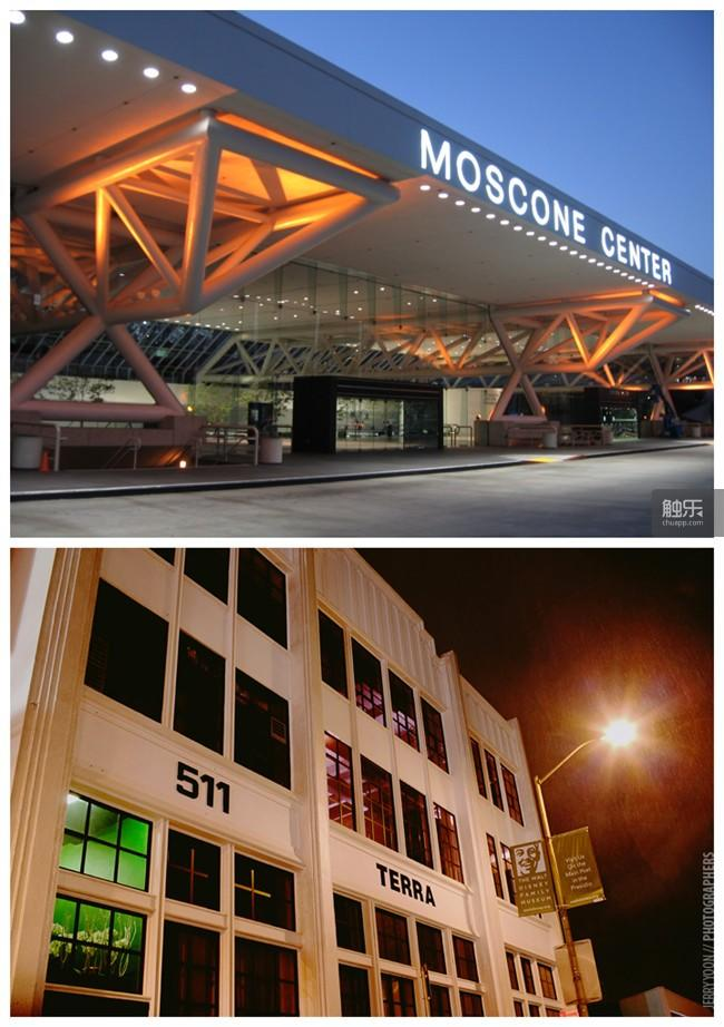 上为传统IGF展会举办场地Moscone Convention Center,下为谷歌IGF场地Terra Gallery