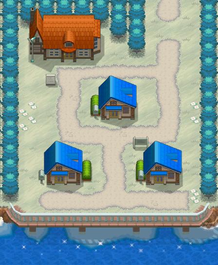 鹿子镇的地图很小,只有四幢房子,劲敌家就在地图的左下方