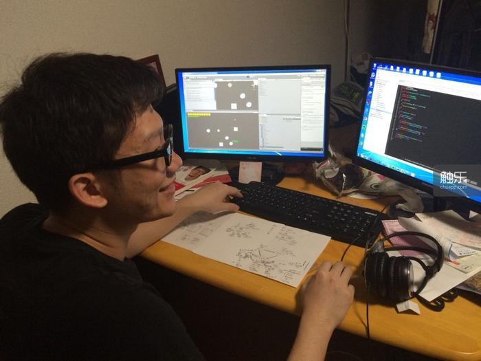 陈豪和他们正在制作中的游戏