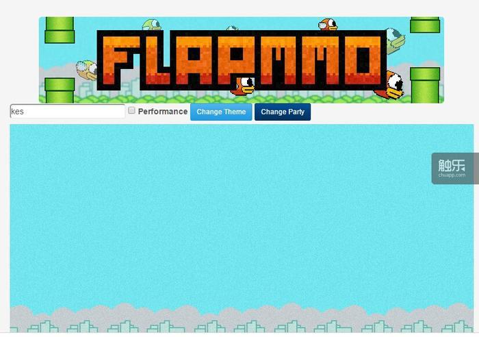 《flapmmo*》游戏截图。目前游戏已无法正常游玩