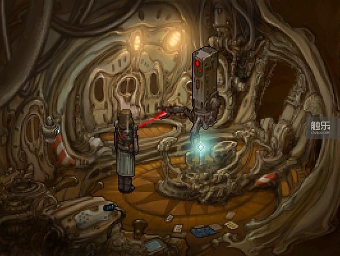 船舱中让两位主角衣食无忧的能源核心,下次再把它碰到手上,就要到某一个可选结局了!