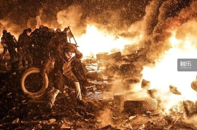 游戏中的场面在乌克兰的现实上演