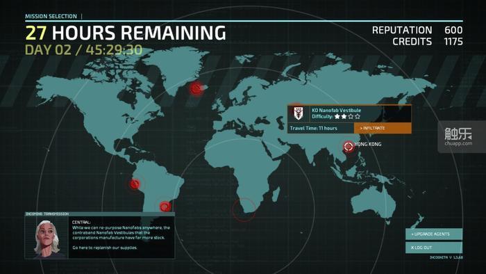 任务部署采用了全球地图方式,此外队友是死一个少一个,这两个特性均来自于XCOM系列