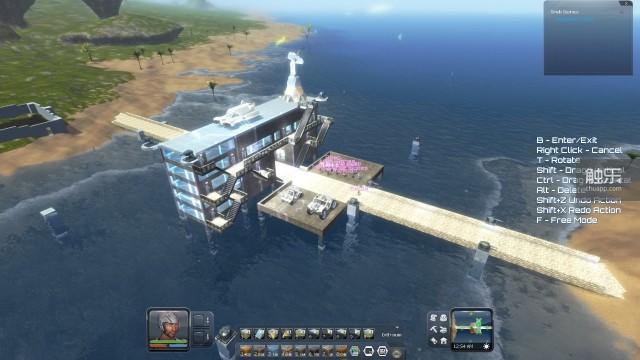 多人联机模式下,俯瞰玩家搭建的基地